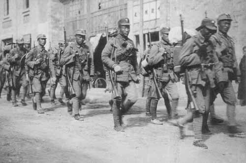 参加淞沪会战的川军部队